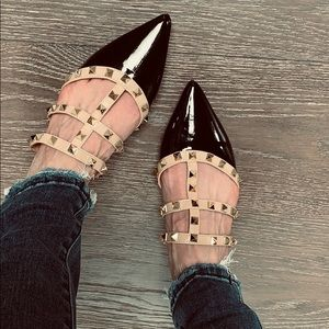 Shoes - ✨LAUREN Studded Flat Mules